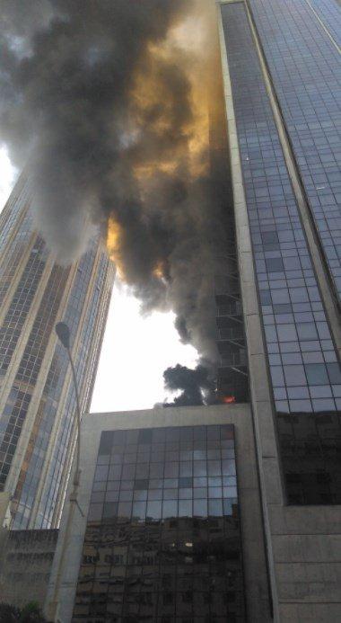 Fire today at Academia Brasileira de Letras in Central Rio de Janeiro