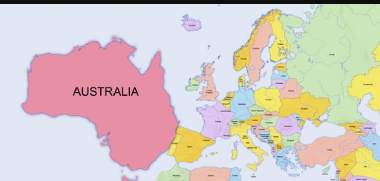 Map Of Australia On Europe.Rufus On Twitter Here Is A Map Of Europe As Per Eurovision