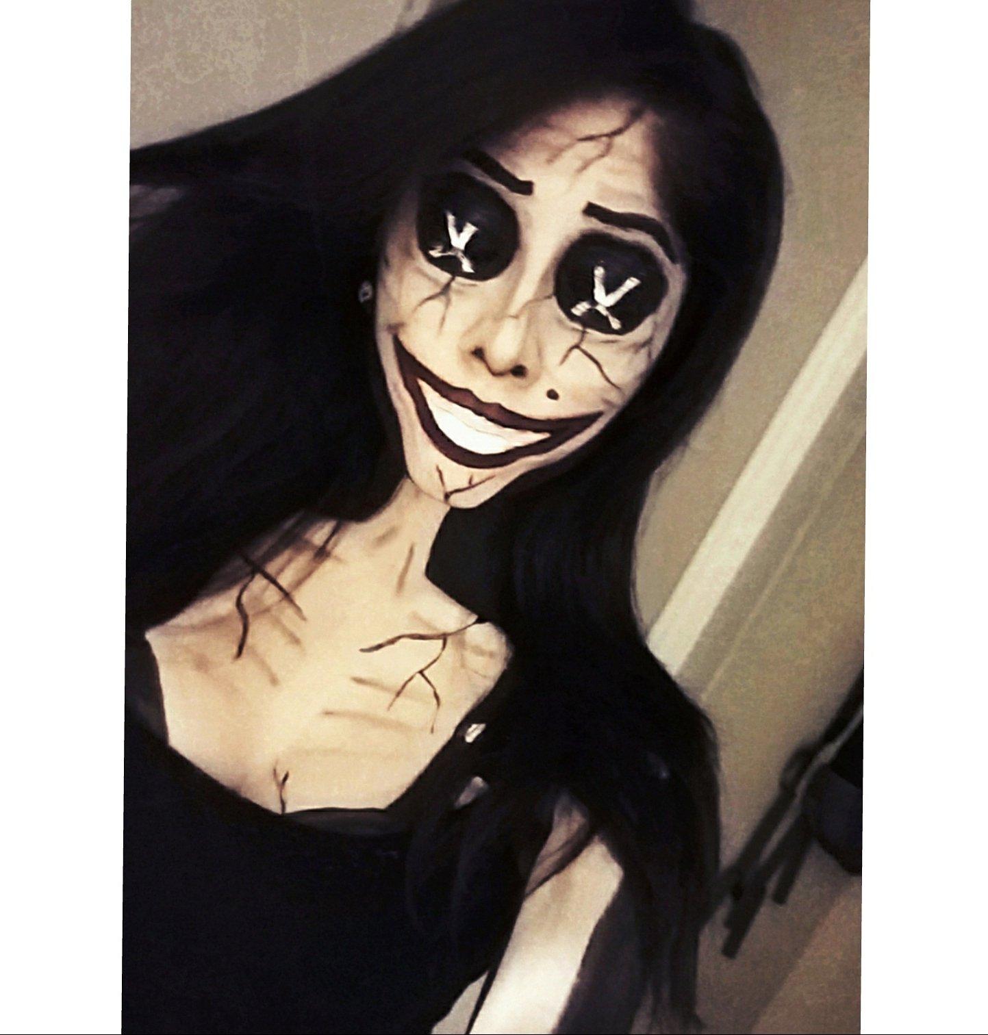Marlena Ochoa On Twitter I Am Your Other Mother Coraline Makeup Facepaint Coraline Othermother Souls Creepy Horror Cosplay Children Mehron Art Evil Https T Co J0aikvokhm