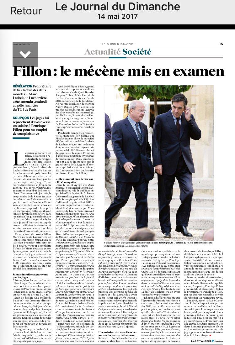 #FillonGate Article @leJDD<br>http://pic.twitter.com/vAabT08cFS