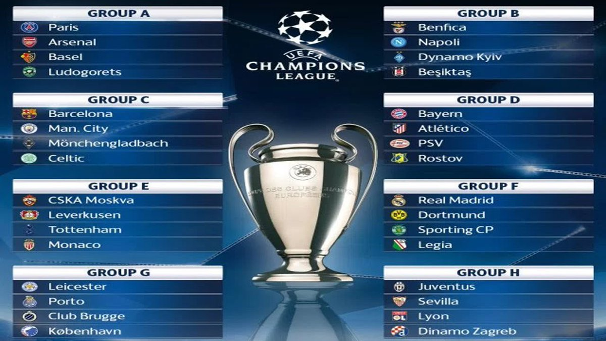Official | Uefa Champions League Group Stage 2016/17 Draw Result | HD #UCLdraw  http:// bit.ly/2r5fKqW  &nbsp;  <br>http://pic.twitter.com/uYM4hjuVRB