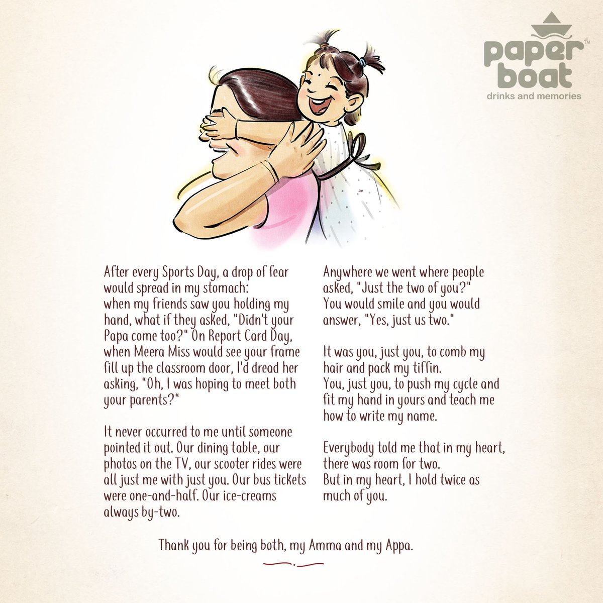 Paper Boat On Twitter Dear Every Mummy Who Was Also A Papa And