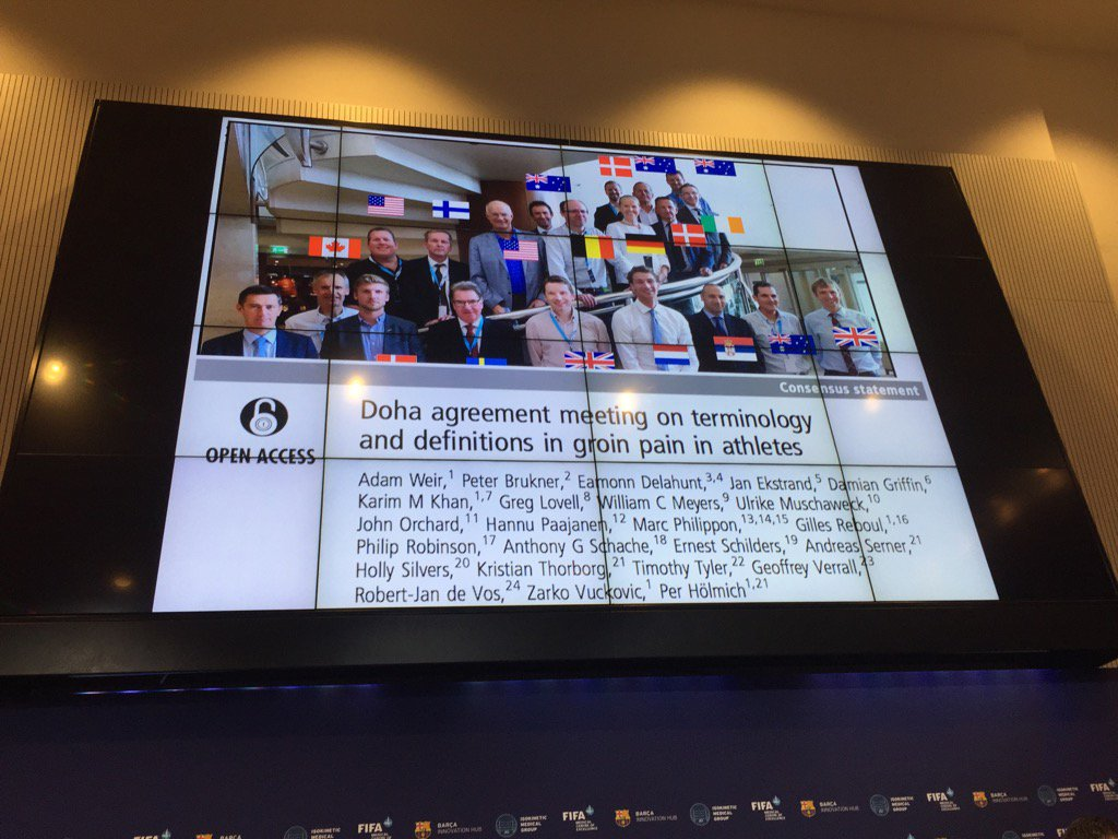 Bjsm On Twitter Doha International Agreement On Groin Pain Free