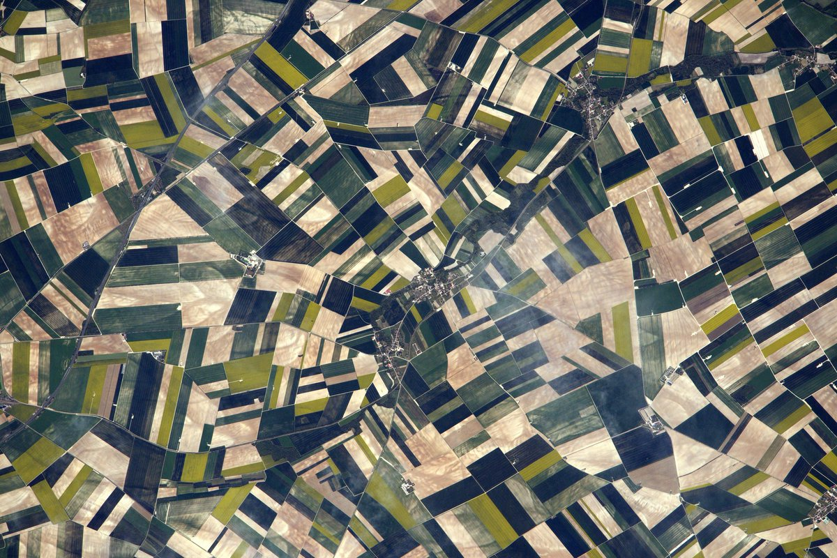 Fields of Picardy. The best way to appreciate their beauty is from above.. #France #SpringArt
