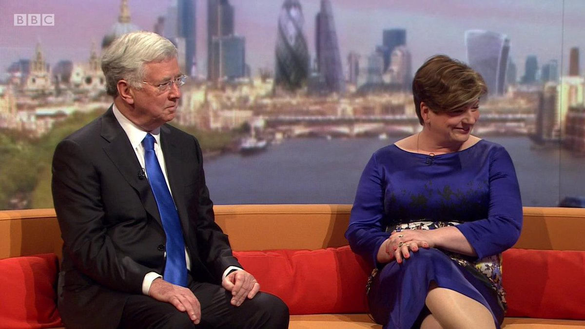 Sofa chat with Michael Fallon and @EmilyThornberry #marr