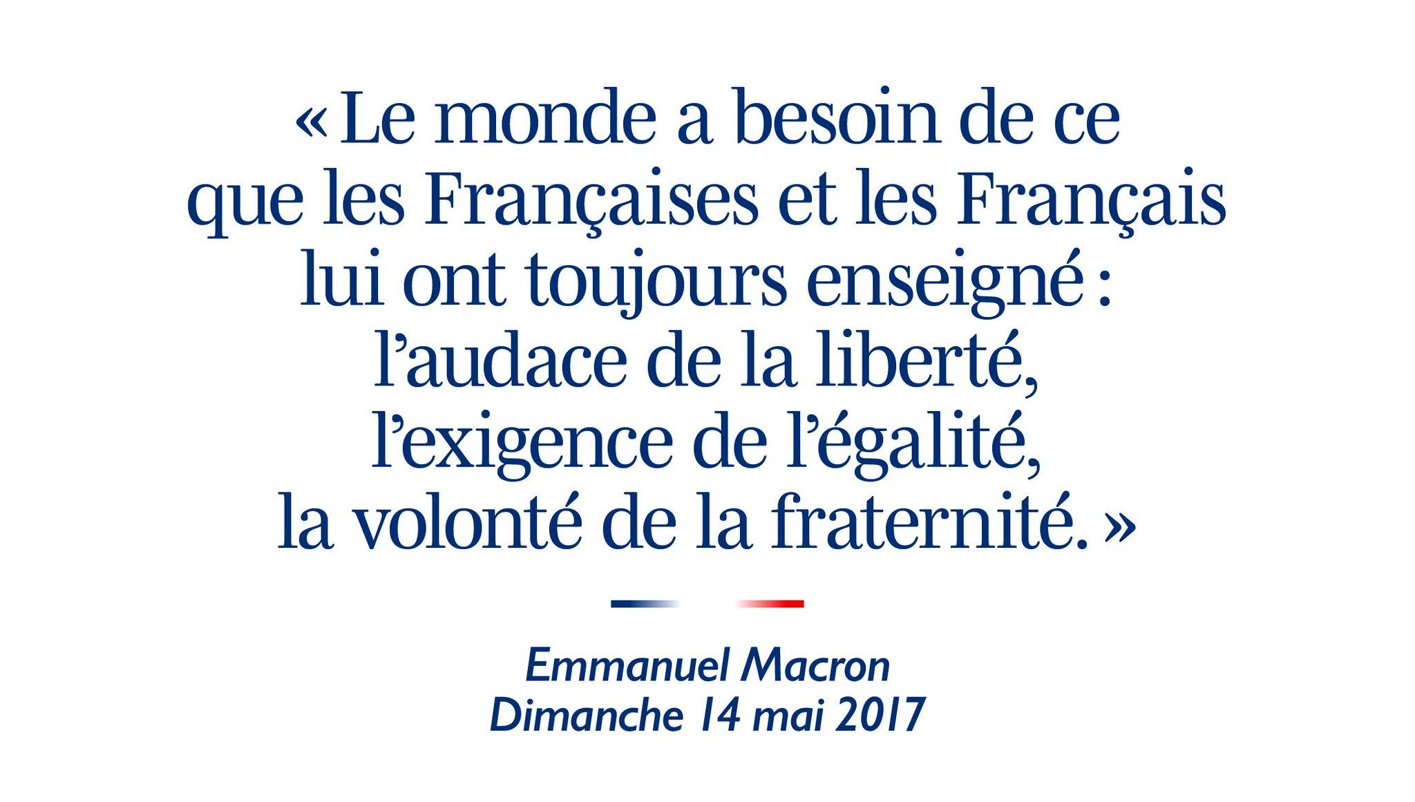Emmanuel Macron: Liberté, Égalité, Fraternité