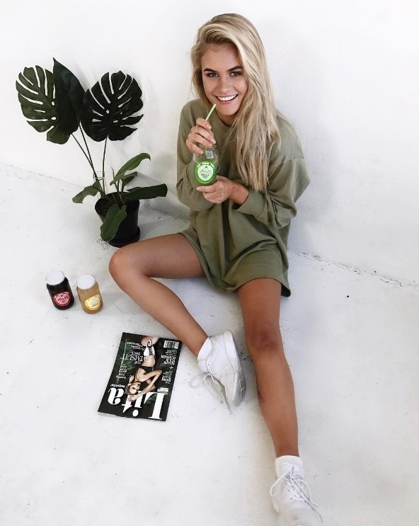 0986b802a2e jordansimek in love with this look wearing the sianna sage green oversized  sweater dress