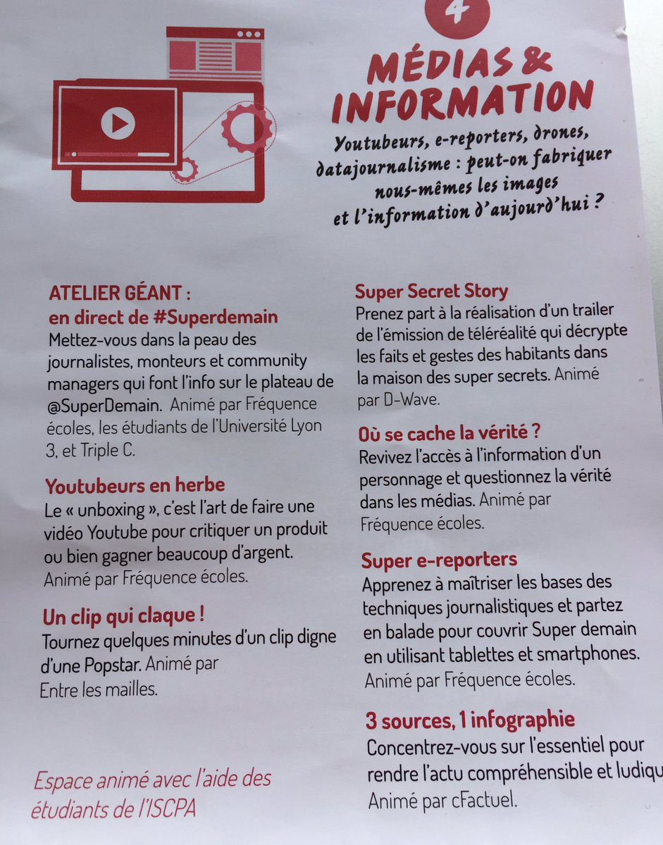 RT @corynenicq: #SuperDemain #media et #information ????initiative ????????à partager largement #612R #metiers https://t.co/twI8a5OnWT