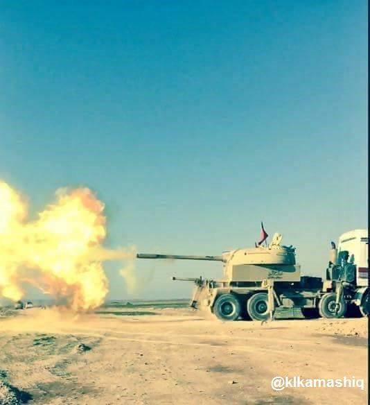 بالصور...دبابة غريبة تشارك في معارك تحرير الموصل C_yRIeyXsAACcou