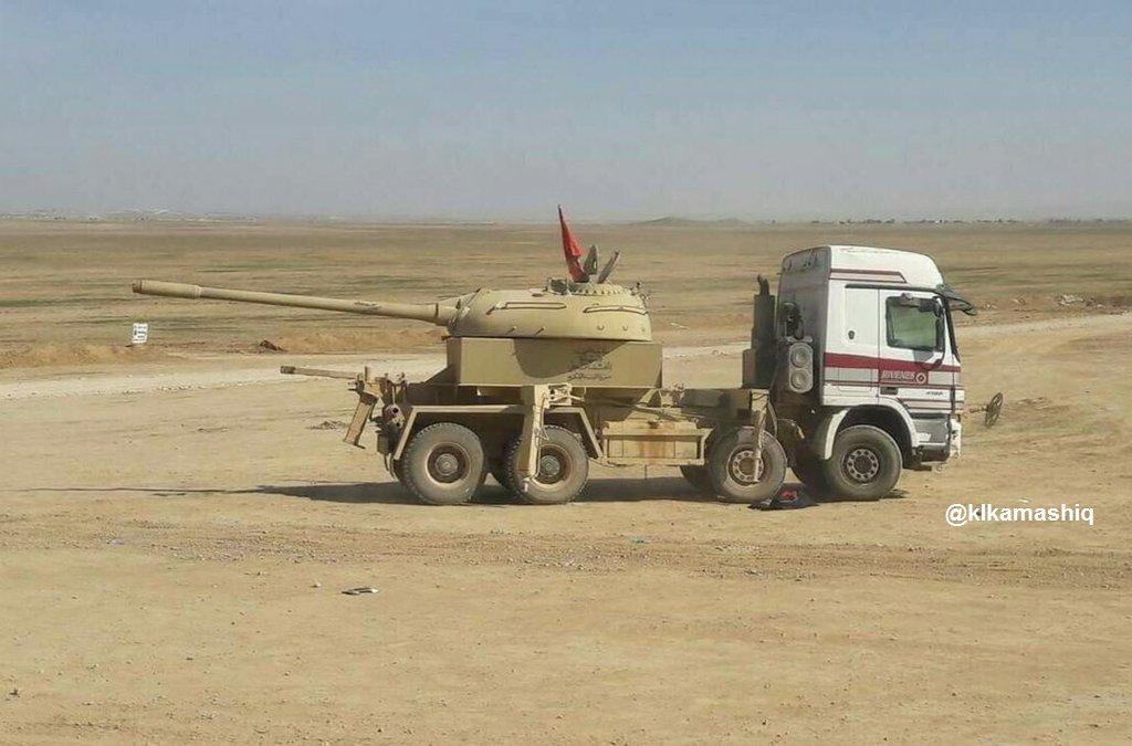 بالصور...دبابة غريبة تشارك في معارك تحرير الموصل C_yRTDTXUAAHoN6