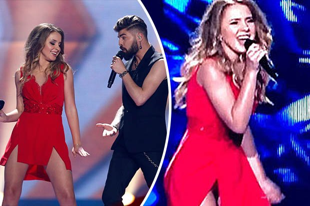 Romanian eurovision star sets pulses racing with saucy
