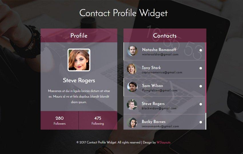 W3layouts on twitter contact profile widget a flat responsive w3layouts on twitter contact profile widget a flat responsive widget template html5 bootstrap responsive webtemplate httpsta8vlnqcb64 maxwellsz