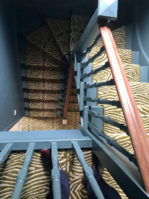 WE ❤ THIS! @AlternativeFlr quirky B Zebo moss runner. Looks amazing with painted stairs. Our customers have the best taste and imagination