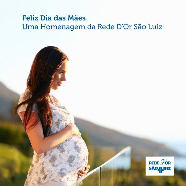 Amor incondicional desde a primeira batida do coração. A Rede D'Or São Luiz parabeniza a todas as mães! #RedeDOr