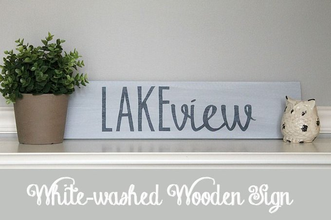 The Inspired Hive: White washed wooden sign