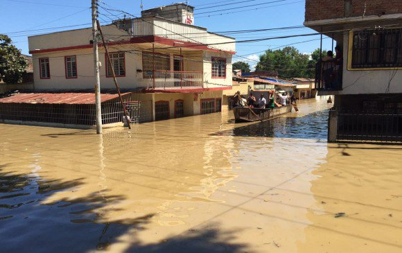 High alert in the Valle cause overflow of the Cauca river