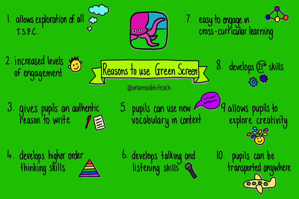 MT @unameabhiteach: 10 reasons to use Green Screen in the classroom #doink #greenscreen #iste17 #edtech <br>http://pic.twitter.com/ntC3VIabmB #iste17