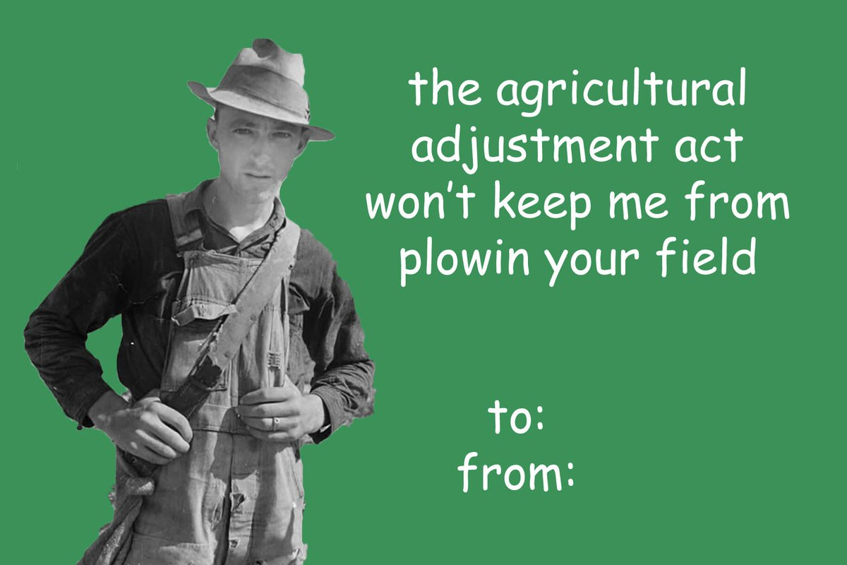 the agricultural adjustment act quizlet
