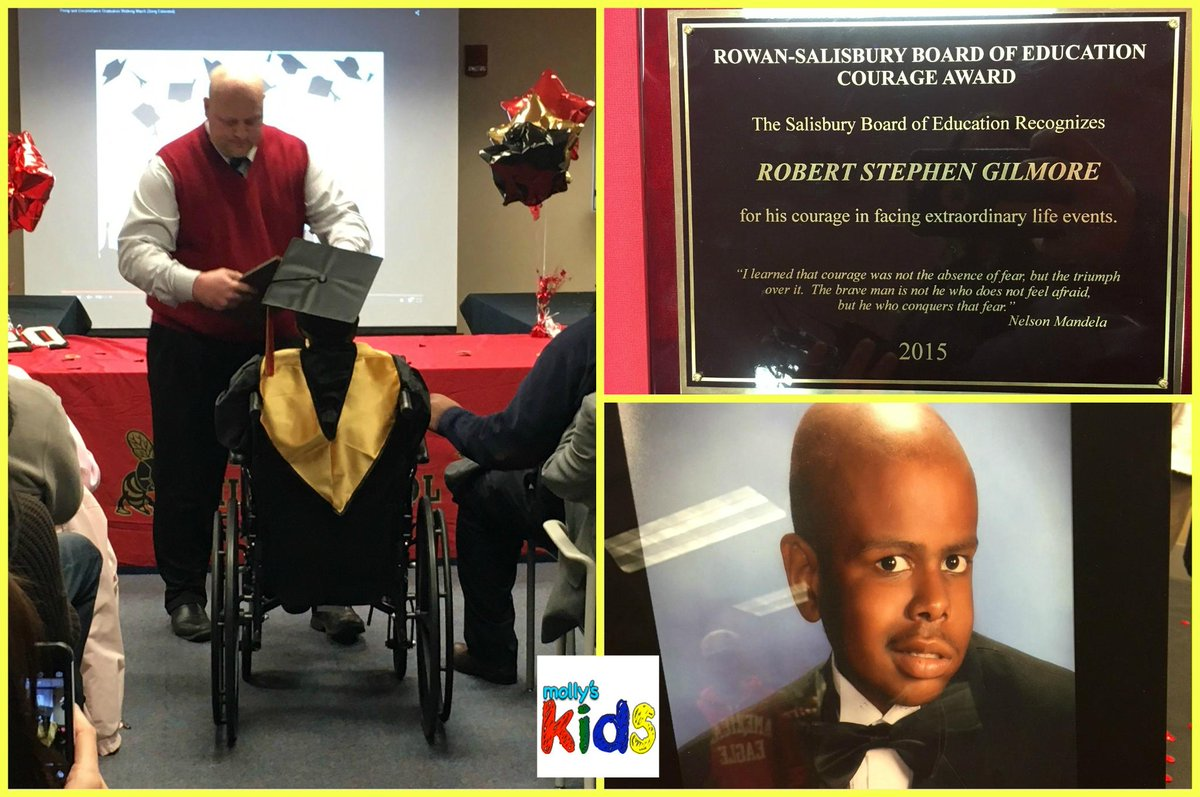 Stephen Gilmore graduates from high school in hospital ceremony. Post by @MollyGrantham