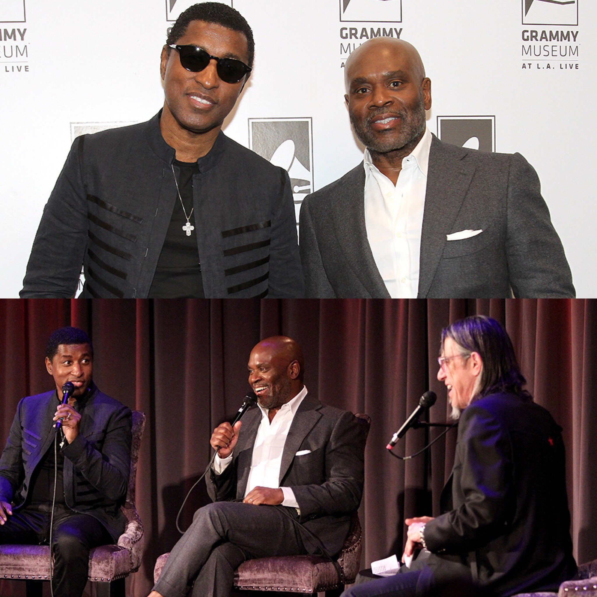 The Tender Lover himself @KennyEdmonds and I sharing stories. #SingToMe https://t.co/W9OkHCcpEr