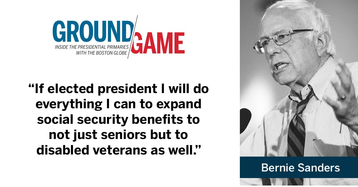 Bernie Sanders on social security during DemDebate. Watch live
