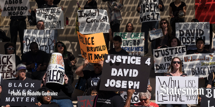 Protest at City Hall condemns police shooting of David Joseph ...