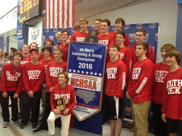 South Meck boys, Hough girls win NCHSAA 4A swim state titles. Story