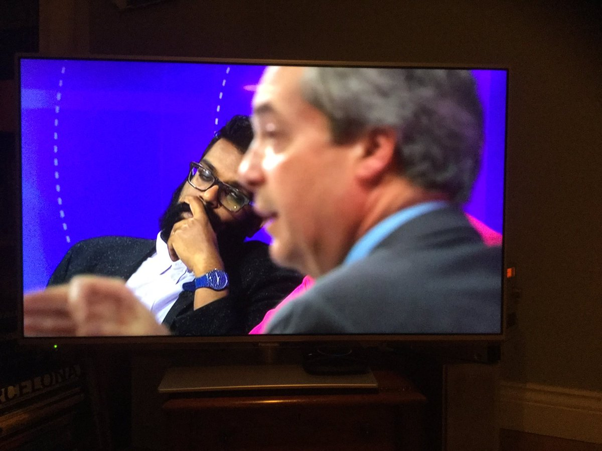 Behold @RomeshRanga perfectly representing the public's tedium of Farage through the medium of FACE.  #bbcqt https://t.co/WXzDEk4Npj