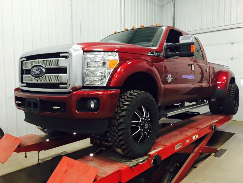 High Cal Motorsports On Twitter 2016 Ford F350 Dually Lifted With A Readylift Sst Kit Fresh Set Of 20 Fuel Mavericks And 35 Toyo Tires