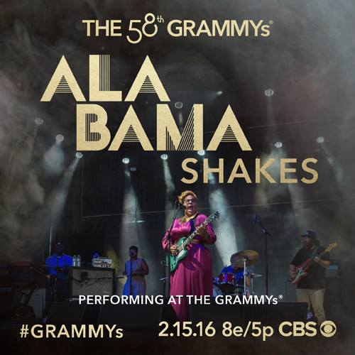 Can't wait to see @Alabama_Shakes perform at this year's @TheGRAMMYs... Such a huge fan of Sound & Color! #GRAMMYs https://t.co/XSsyNQHAED