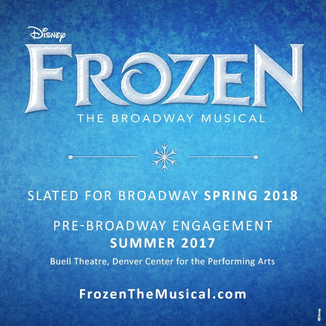 We're proud to announce that #Denver will be the first to see @FrozenBroadway before it makes its Broadway debut. https://t.co/pZtOFKtGfa