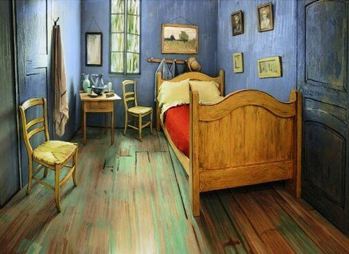 A true life trompe l'oeil. A Chicago room has been redecorated to look like Vincent Van Go…