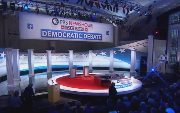 The DemDebate will start at 9 p.m.