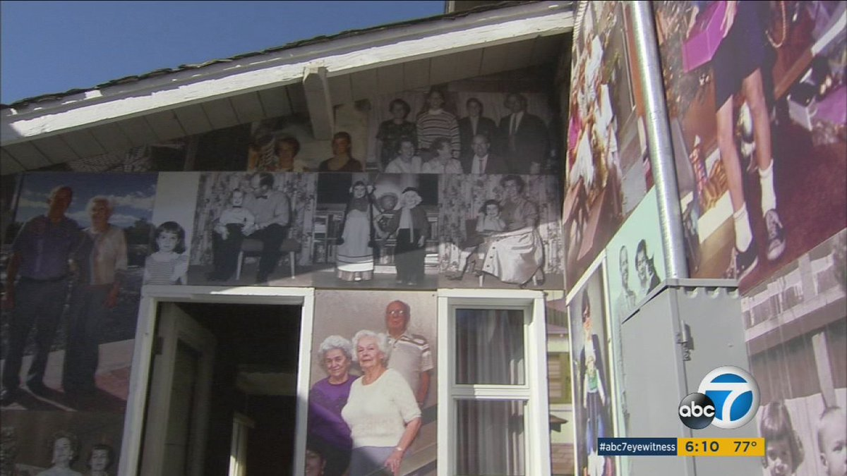 Man pays homage to family, covers Manhattan Beach home w/ photos before its demolished
