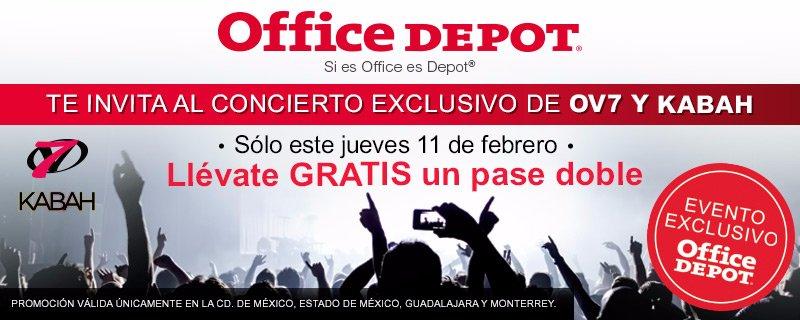 #OfficeDepotMexico te invita a nuestro Concierto Exclusivo con #OV7 y #Kabah.Más info aquí: http://bit.ly/1Lfajpb