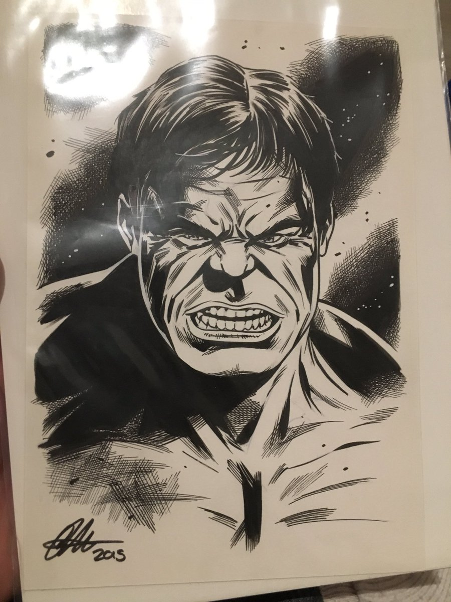 @MarkRuffalo  check my #Hulk Drawing I got from the awesome @davidgoldingart https://t.co/BHkqrTZjDv