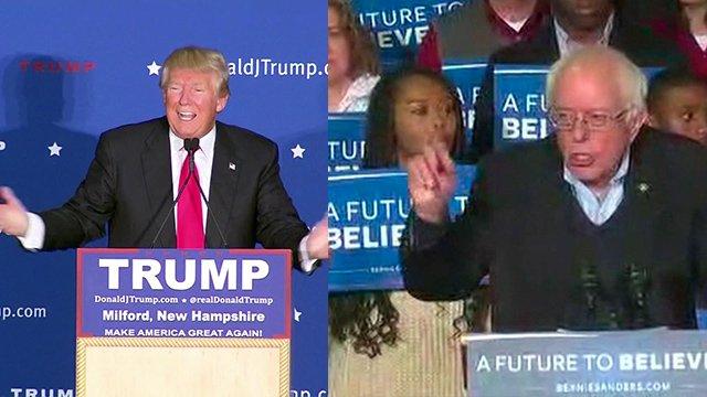 Bernie Sanders and Donald Trump win New Hampshire primaries: CNN projects