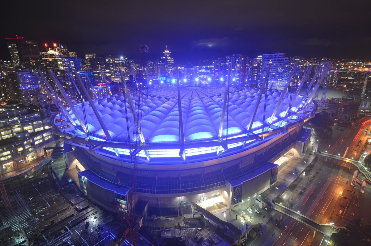 Photo courtesy of @bcplace #Purple4PEDAW! https://t.co/5MRI6MxXGt
