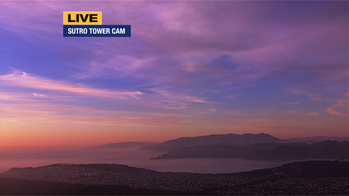 Look at the color from our Sutro cam! Gorgeous whereyoulive! You can send your weather pics, tag abc7now.