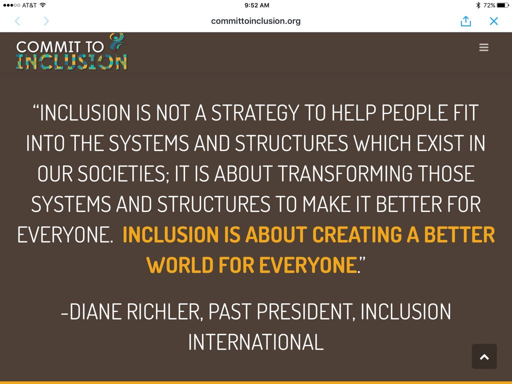 """gobaci on twitter: """"great definition of #inclusion! mt"""