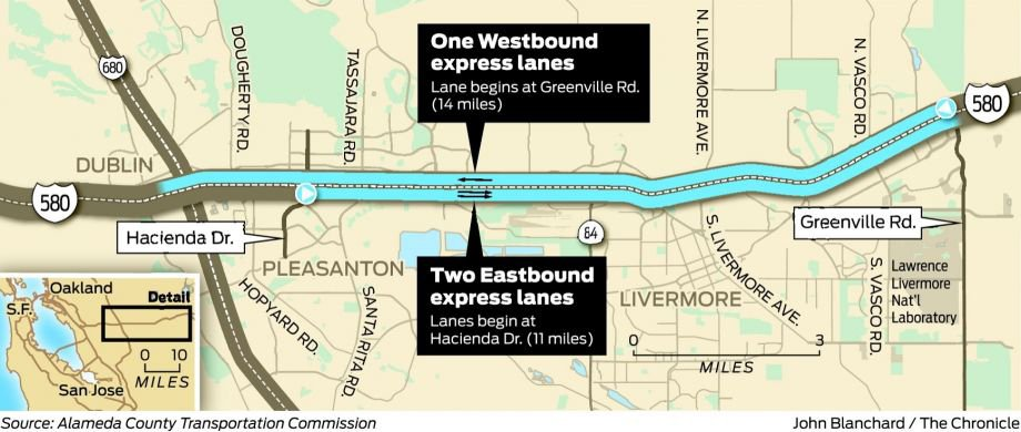 New express lanes on I-580 signal freeway revolution. via @ctuan