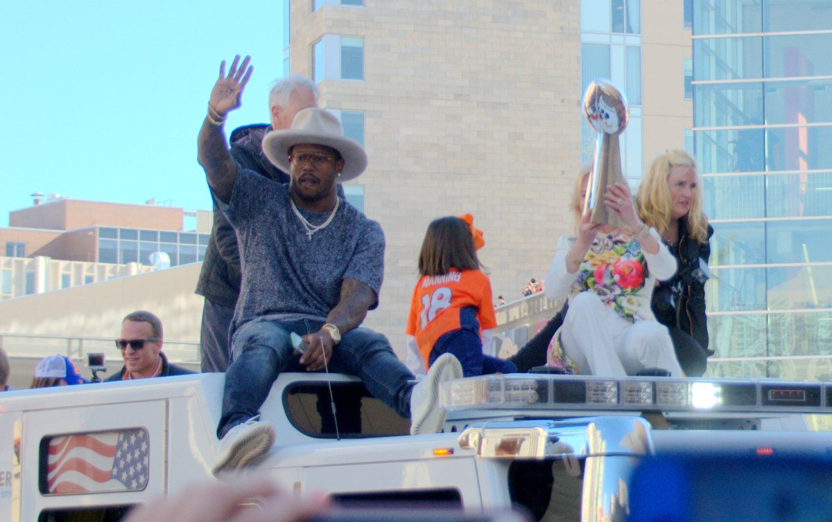 If you were at Civic Center Park today in Denver you were one in a million. BroncosParade