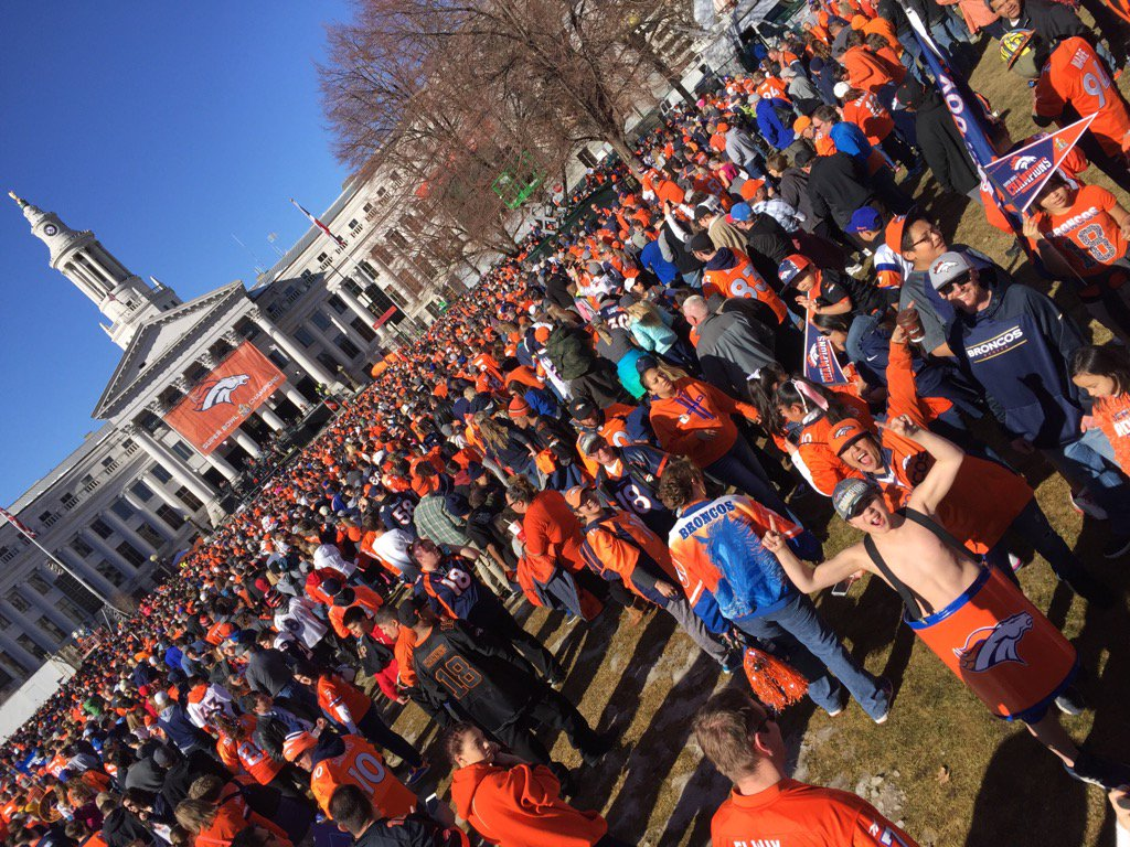 Huge thanks to the Denver city employees who put together, protected, & cleaned up the Broncos parade/rally! 9NEWS