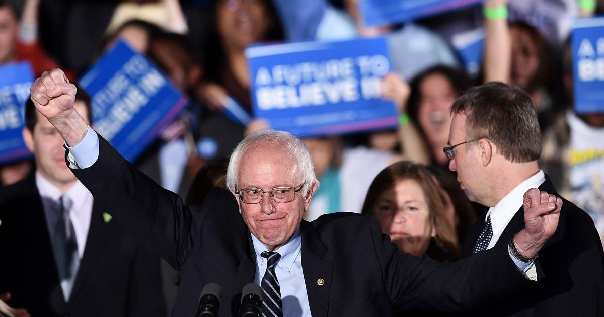 Bernie Sanders just wrapped up his long victory speech after winning NHPrimary