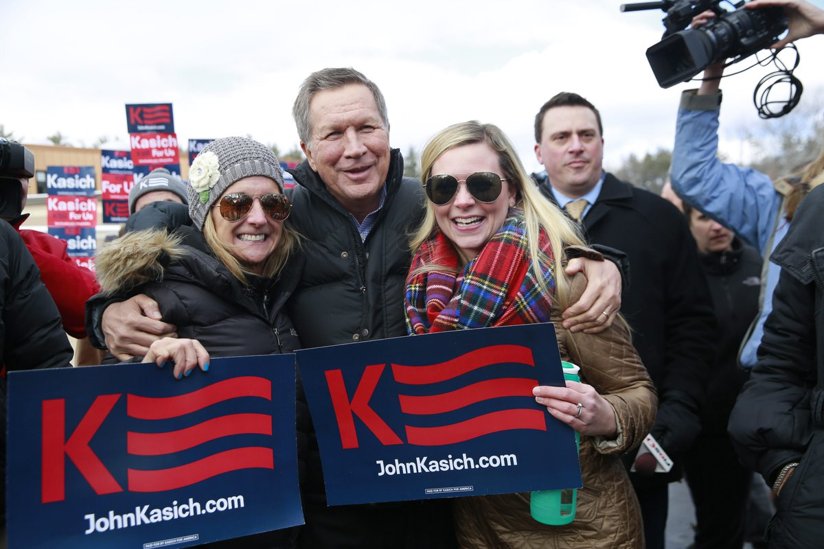AP: John Kasich claims second in New Hampshire Republican primary