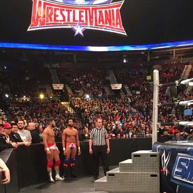 Congratulations to @FantasticDork & King @KingKhash021! On #Smackdown facing Enzo & Cass tonight #wwe #Portland https://t.co/IORaMDlbp0