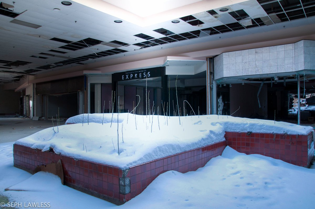 Abandoned mall becomes a winter wonderland: @seph_lawless