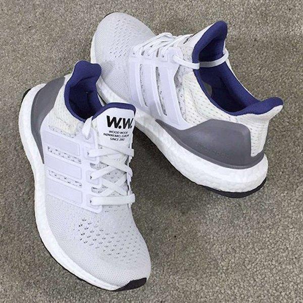promo code 3fef3 e9925 Wood Wood x Adidas Ultra Boost. Men s  Black White    AF5778 Women s   Grey Blue    AF5779 Releasing February 27.pic.twitter.com j1TKkuqNVI