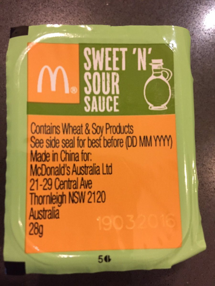 Mcdonald S Australia On Twitter Signorebravo There Is A Minority Of Food That We Import From Overseas Such As Particular Sauces And Toppings
