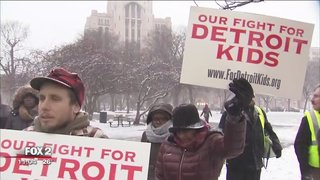Protest against DPS state control held on eve of count day reports @RandyWFOX2